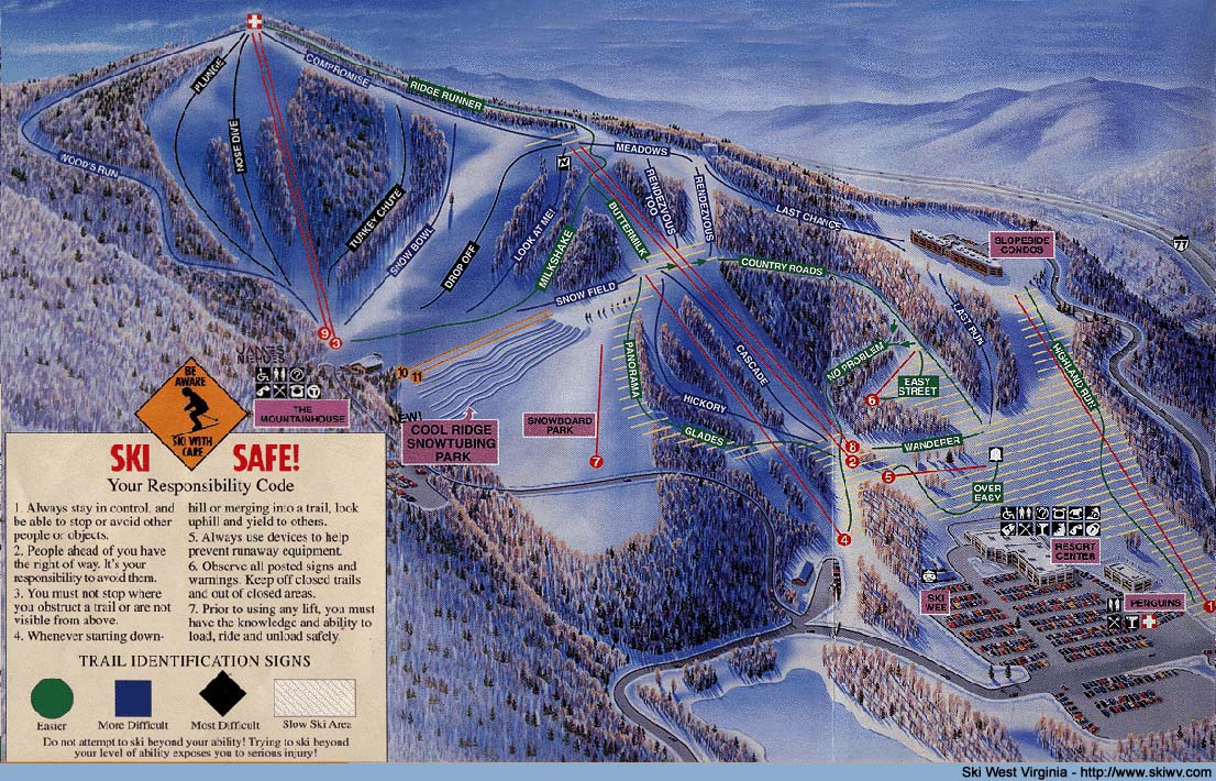 snowshoe wv map with Skimaps on The greenbrier classic history and past winners additionally Haptic Snowboard Teaches You The Slopes further Skimaps as well 181 likewise New River Gorge Bridge Infographic Height  parison.